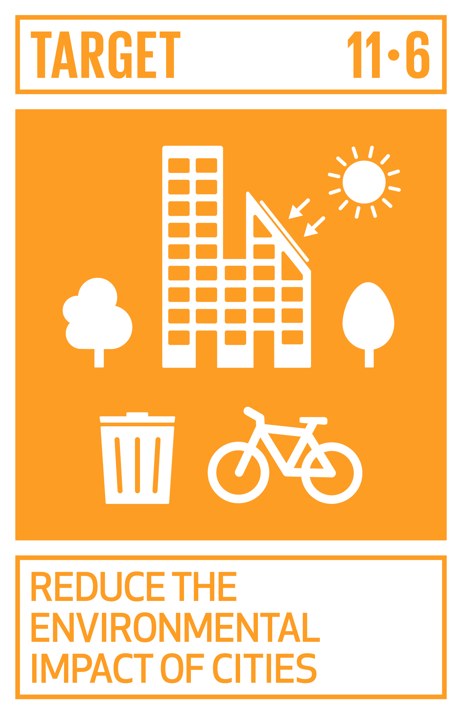 By 2030, reduce the adverse per capita environmental impact of cities, including by paying special attention to air quality and municipal and other waste management.   INDICATORS    11.6.1  Proportion of urban solid waste regularly collected and with adequate final discharge out of total urban solid waste generated, by cities   11.6.2  Annual mean levels of fine particulate matter (e.g. PM2.5 and PM10) in cities (population weighted)