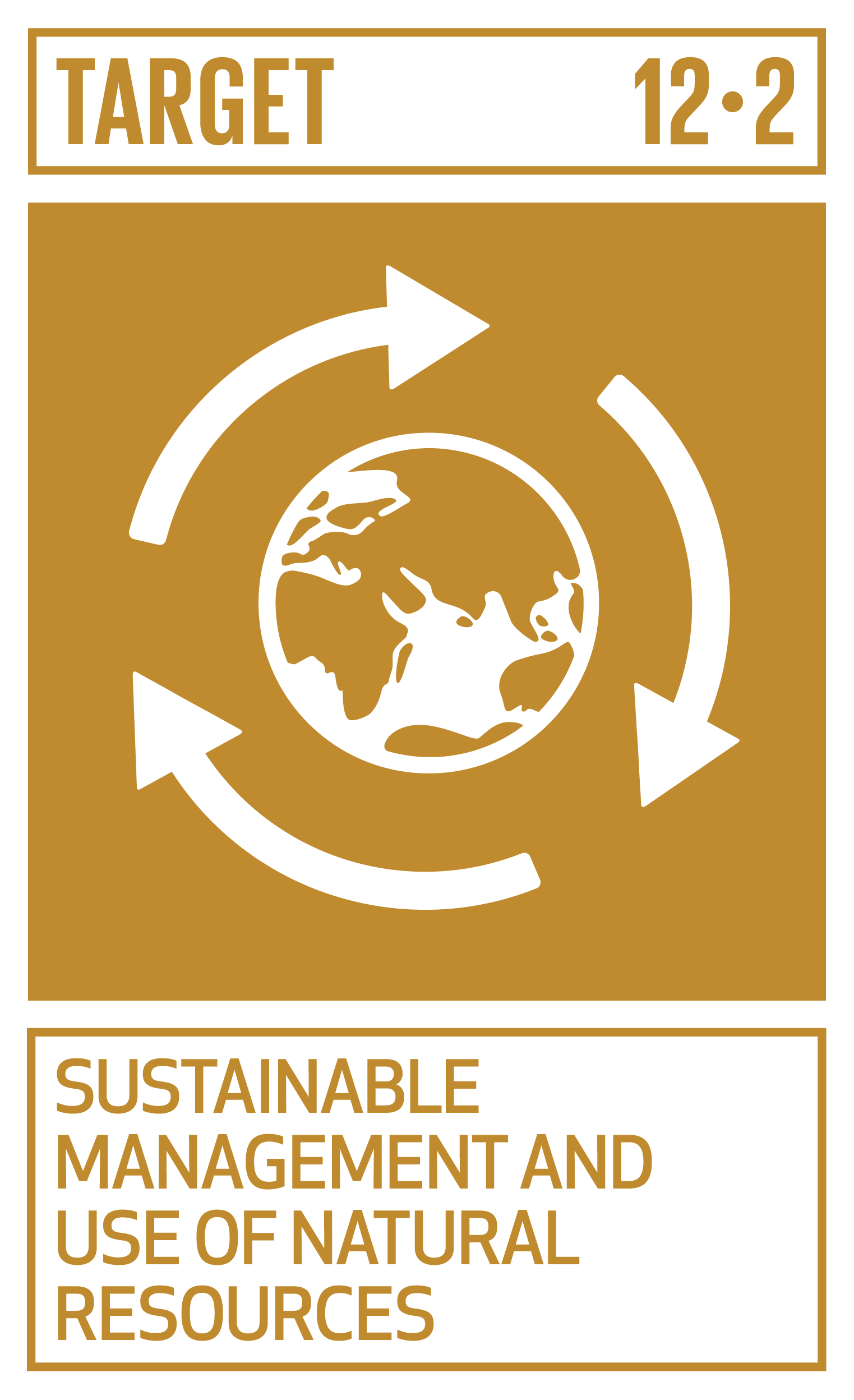 By 2030, achieve the sustainable management and efficient use of natural resources.   INDICATORS    12.2.1  Material footprint, material footprint per capita, and material footprint per GDP   12.2.2  Domestic material consumption, domestic material consumption per capita, and domestic material consumption per GDP