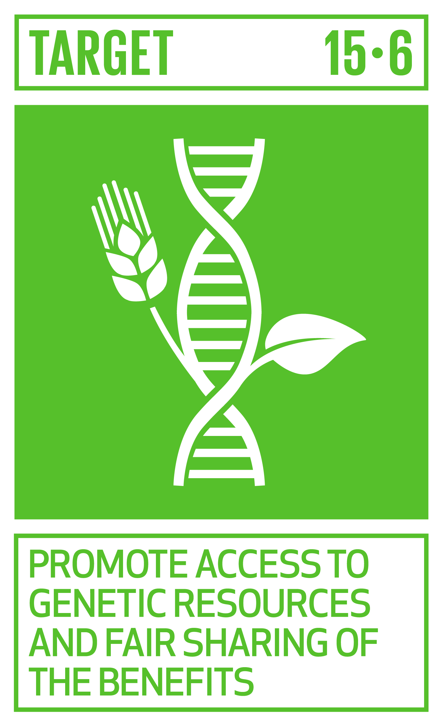 Promote fair and equitable sharing of the benefits arising from the utilization of genetic resources and promote appropriate access to such resources, as internationally agreed.   INDICATOR    15.6.1  Number of countries that have adopted legislative, administrative and policy frameworks to ensure fair and equitable sharing of benefits