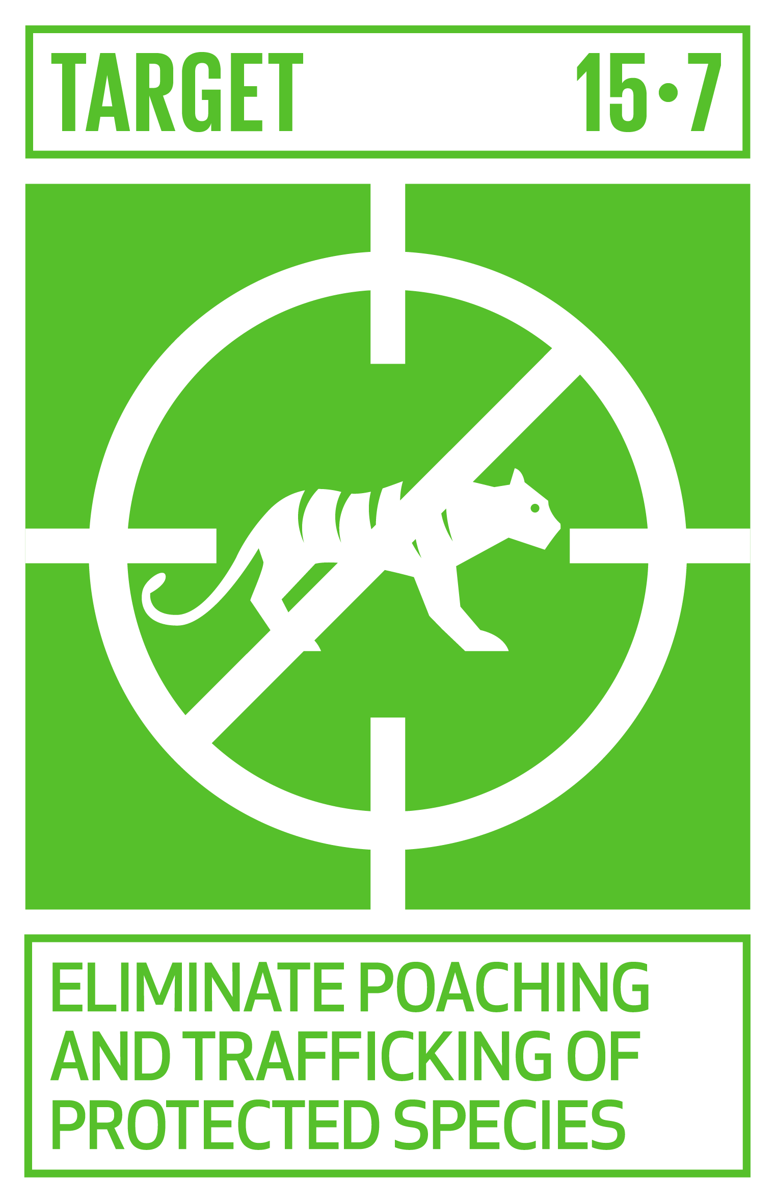 Take urgent action to end poaching and trafficking of protected species of flora and fauna and address both demand and supply of illegal wildlife products.   INDICATOR    15.7.1  Proportion of traded wildlife that was poached or illicitly trafficked