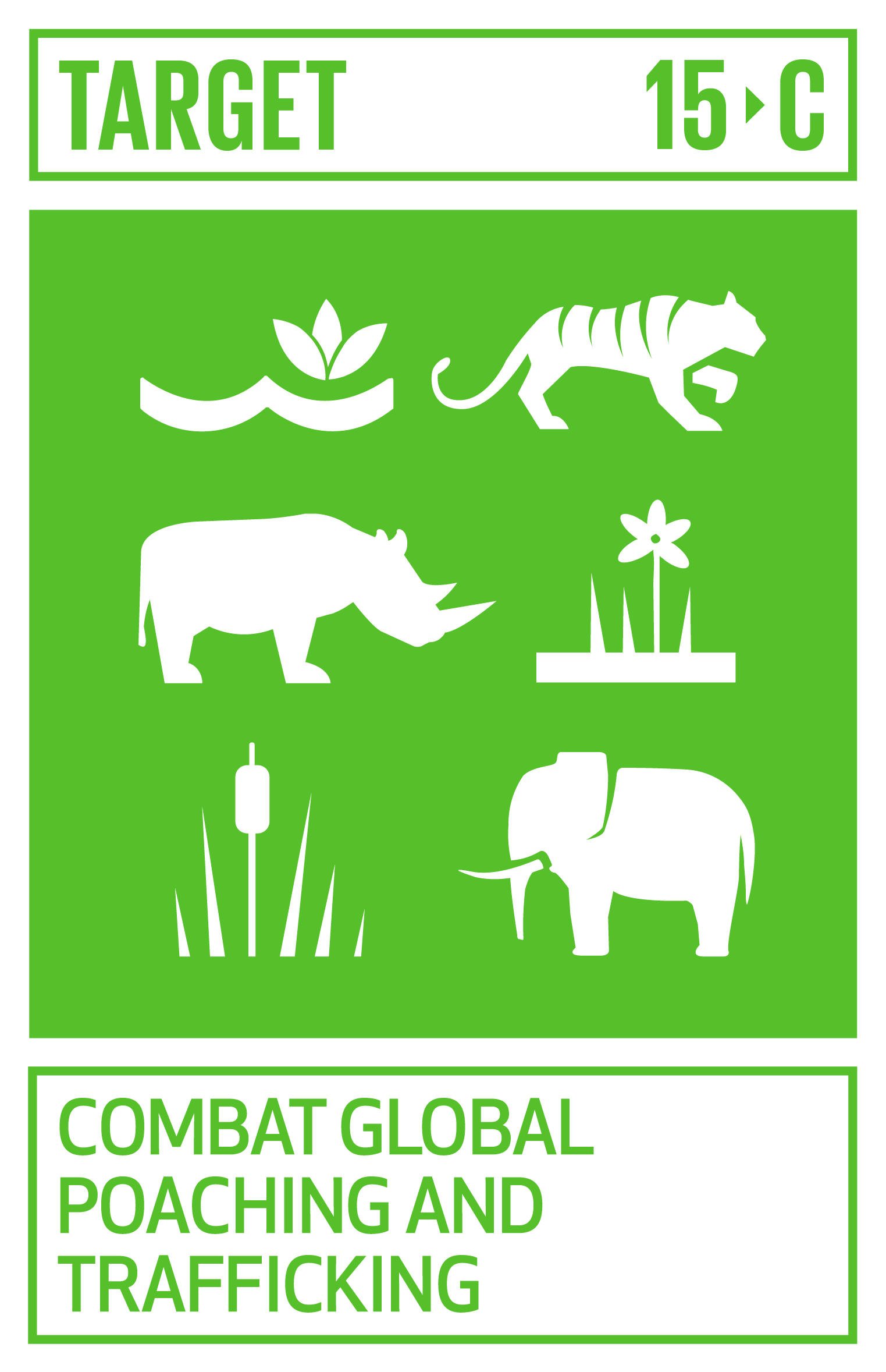 Enhance global support for efforts to combat poaching and trafficking of protected species, including by increasing the capacity of local communities to pursue sustainable livelihood opportunities.   INDICATOR    15.c.1  Proportion of traded wildlife that was poached or illicitly trafficked