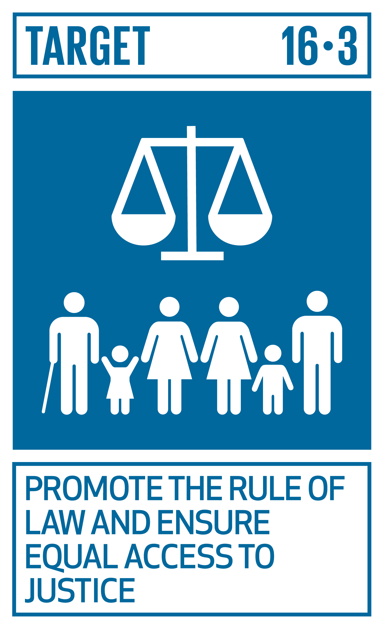 Promote the rule of law at the national and international levels and ensure equal access to justice for all.   INDICATORS    16.3.1  Proportion of victims of violence in the previous 12 months who reported their victimization to competent authorities or other officially recognized conflict resolution mechanisms   16.3.2  Unsentenced detainees as a proportion of overall prison population