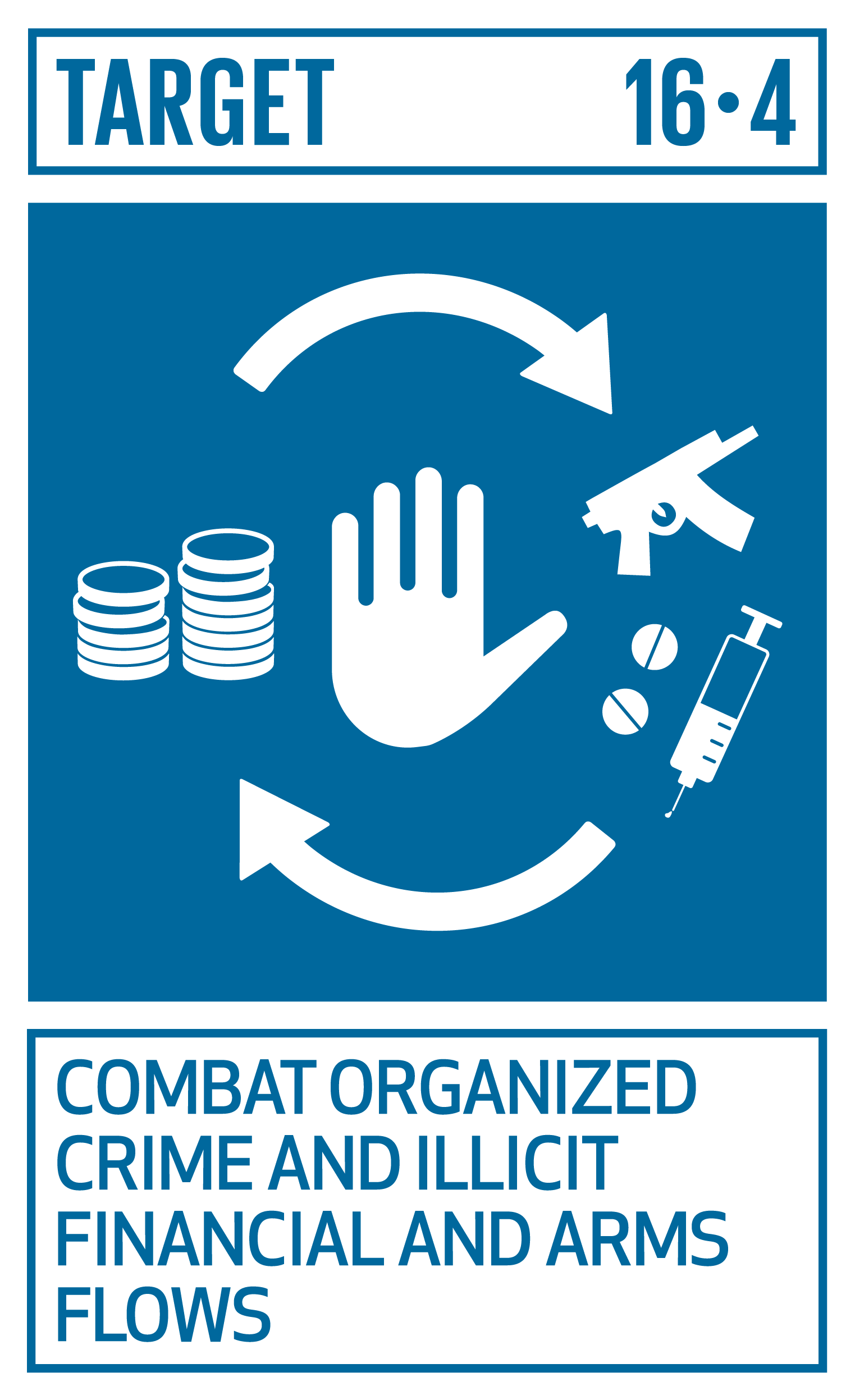 By 2030, significantly reduce illicit financial and arms flows, strengthen the recovery and return of stolen assets and combat all forms of organized crime.   INDICATORS    16.4.1  Total value of inward and outward illicit financial flows (in current United States dollars)   16.4.2  Proportion of seized, found or surrendered arms whose illicit origin or context has been traced or established by a competent authority in line with international instruments