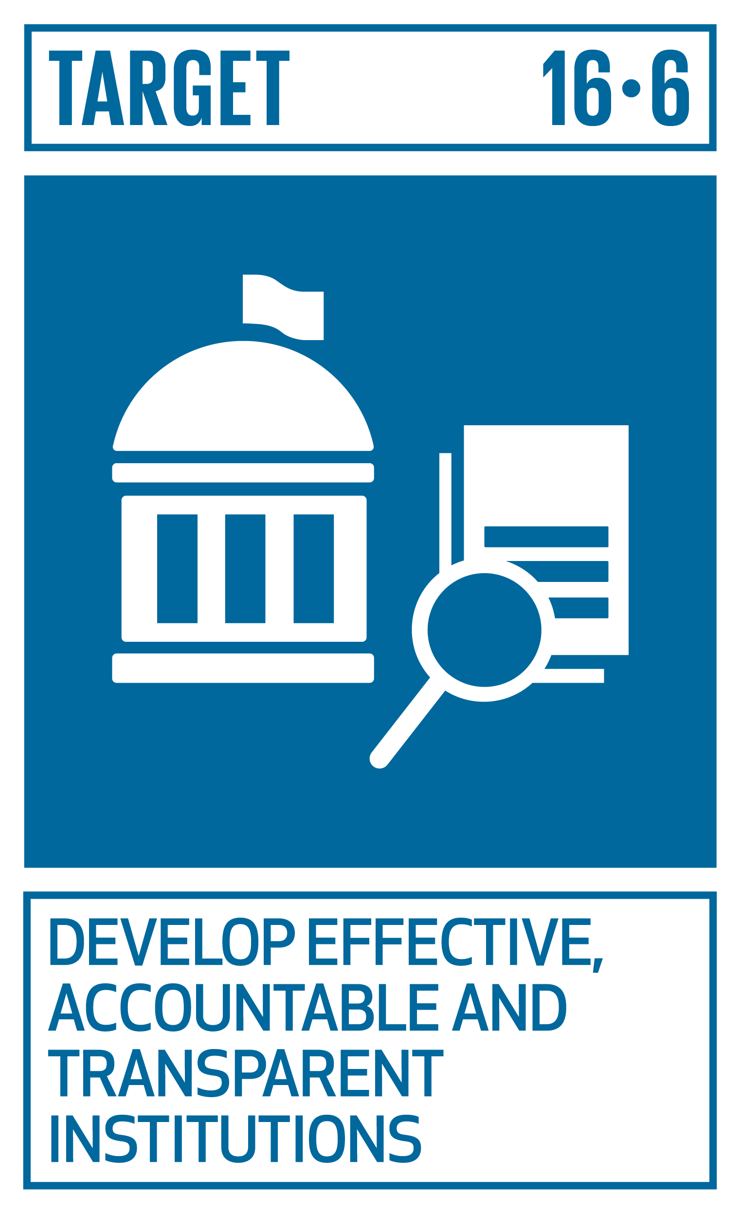 Develop effective, accountable and transparent institutions at all levels.   INDICATORS    16.6.1  Primary government expenditures as a proportion of original approved budget, by sector (or by budget codes or similar)  16.6.2 Proportion of population satisfied with their last experience of public services