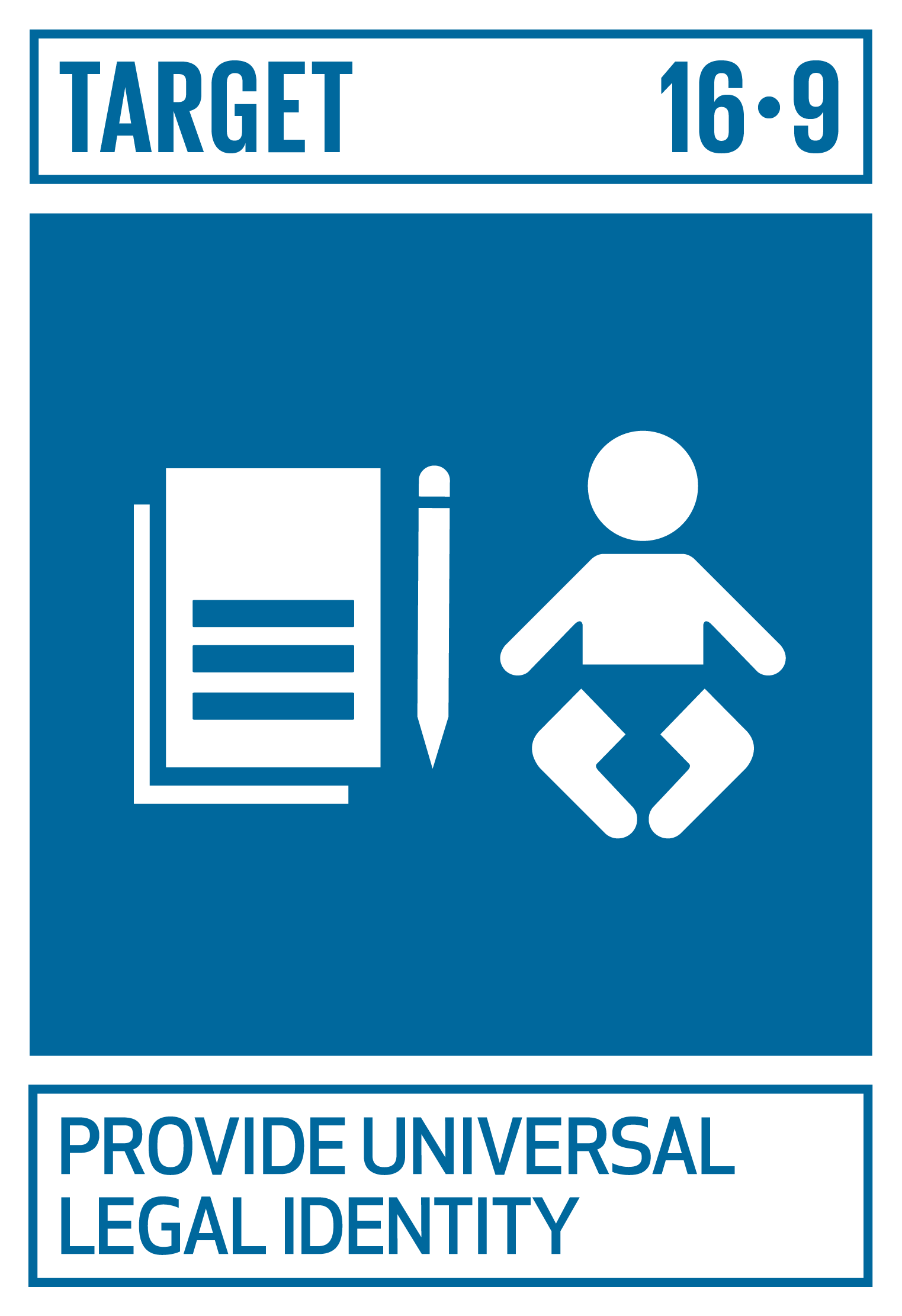 By 2030, provide legal identity for all, including birth registration   INDICATOR    16.9.1  Proportion of children under 5 years of age whose births have been registered with a civil authority, by age