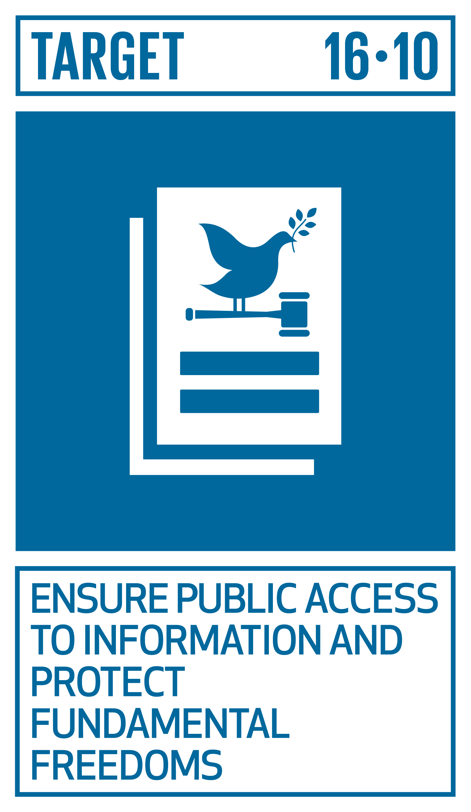 Ensure public access to information and protect fundamental freedoms, in accordance with national legislation and international agreements.   INDICATORS    16.10.1  Number of verified cases of killing, kidnapping, enforced disappearance, arbitrary detention and torture of journalists, associated media personnel, trade unionists and human rights advocates in the previous 12 months   16.10.2  Number of countries that adopt and implement constitutional, statutory and/or policy guarantees for public access to information