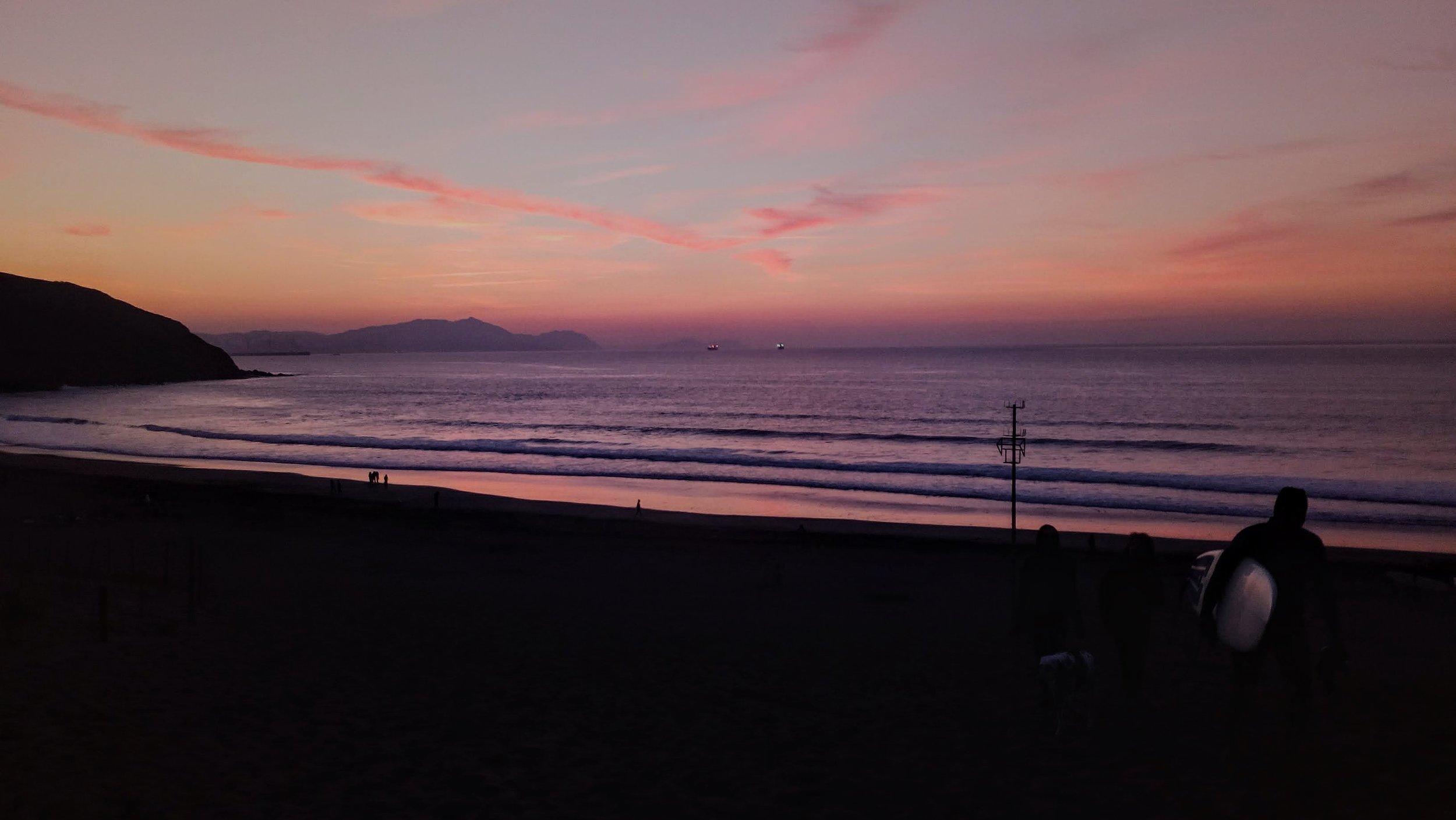 Sunset at Playa de savaje Sopelana