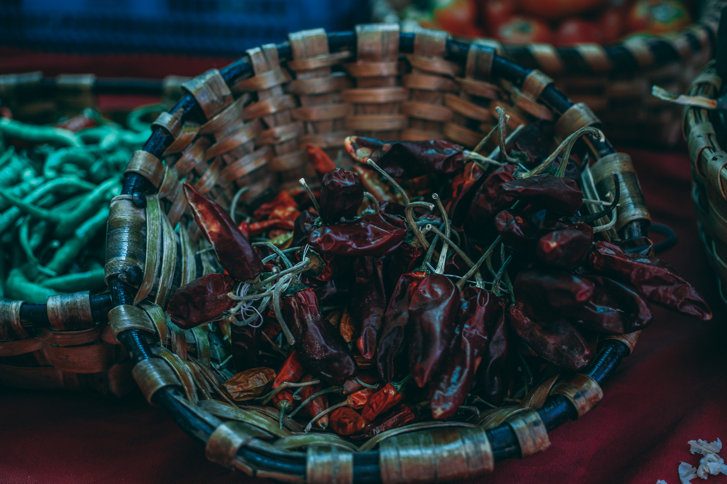 dried Espelette hot peppers