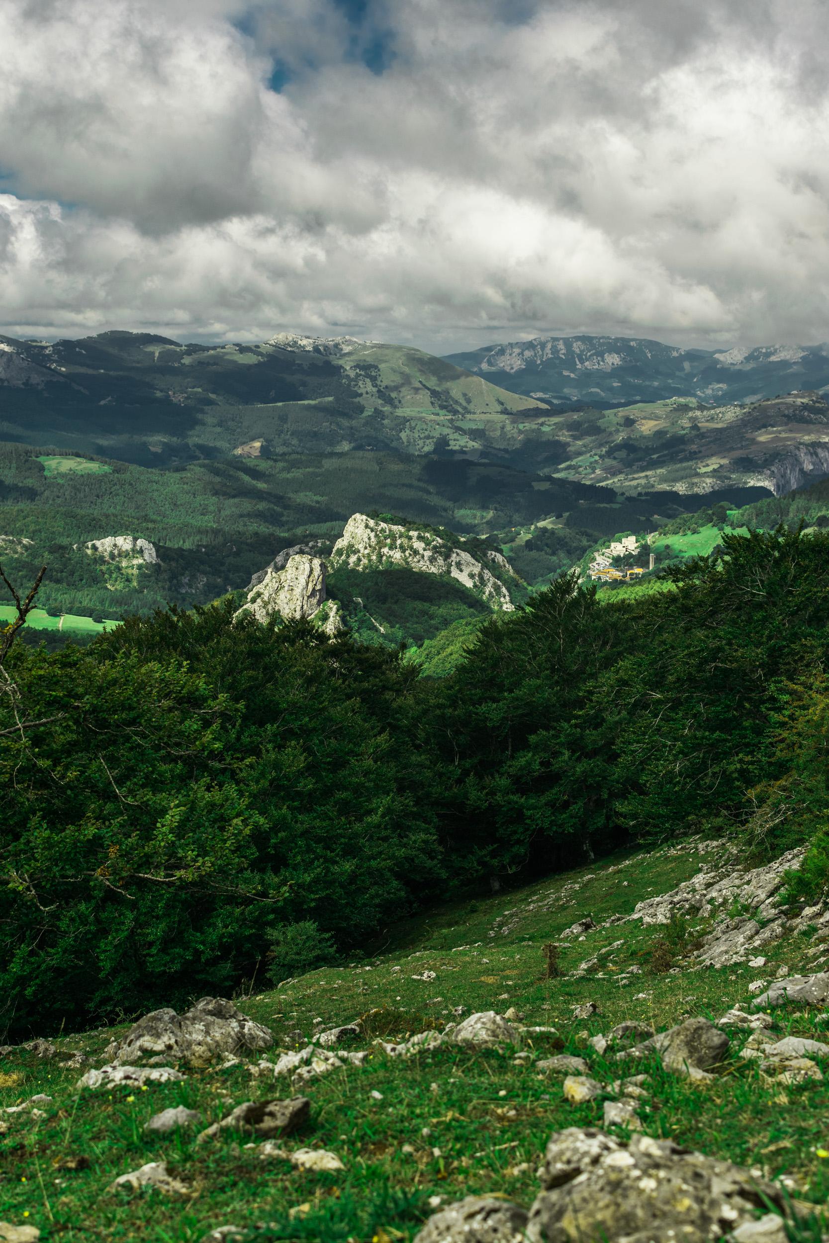 distant mountain peak