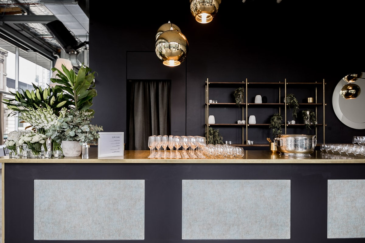The bar at ALTO Event Space in the Melbourne City.