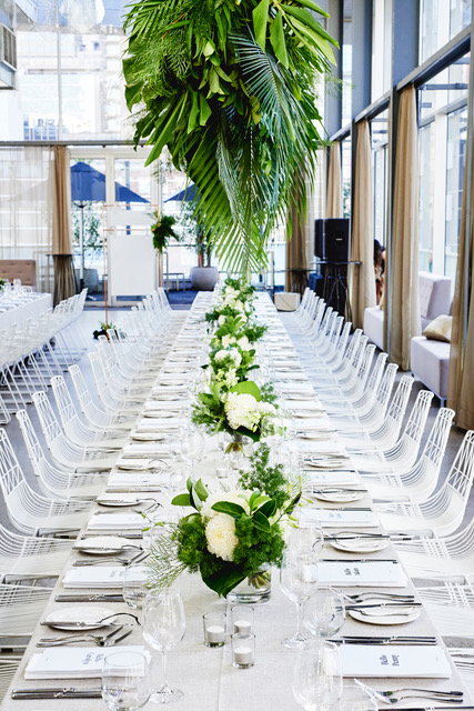 Table setting at ALTO Event Space Melbourne