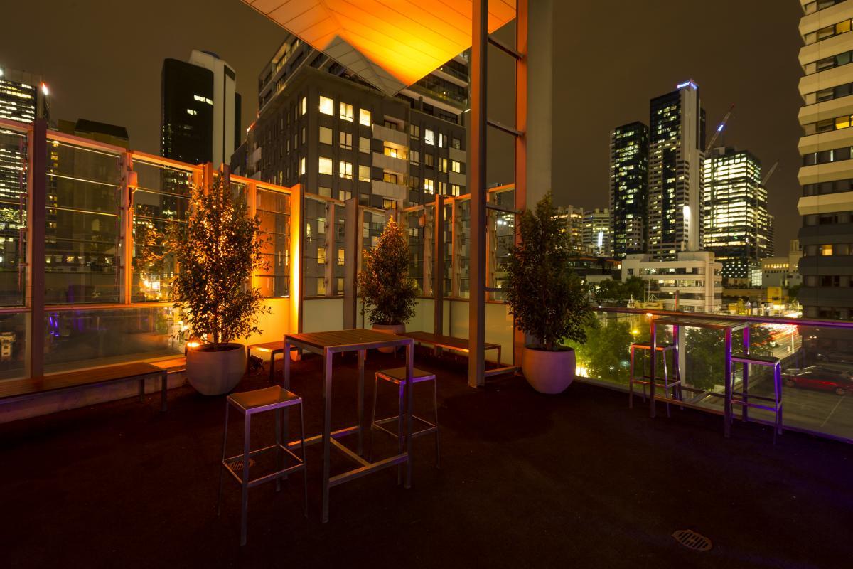 Wedding venue with a outdoor balcony