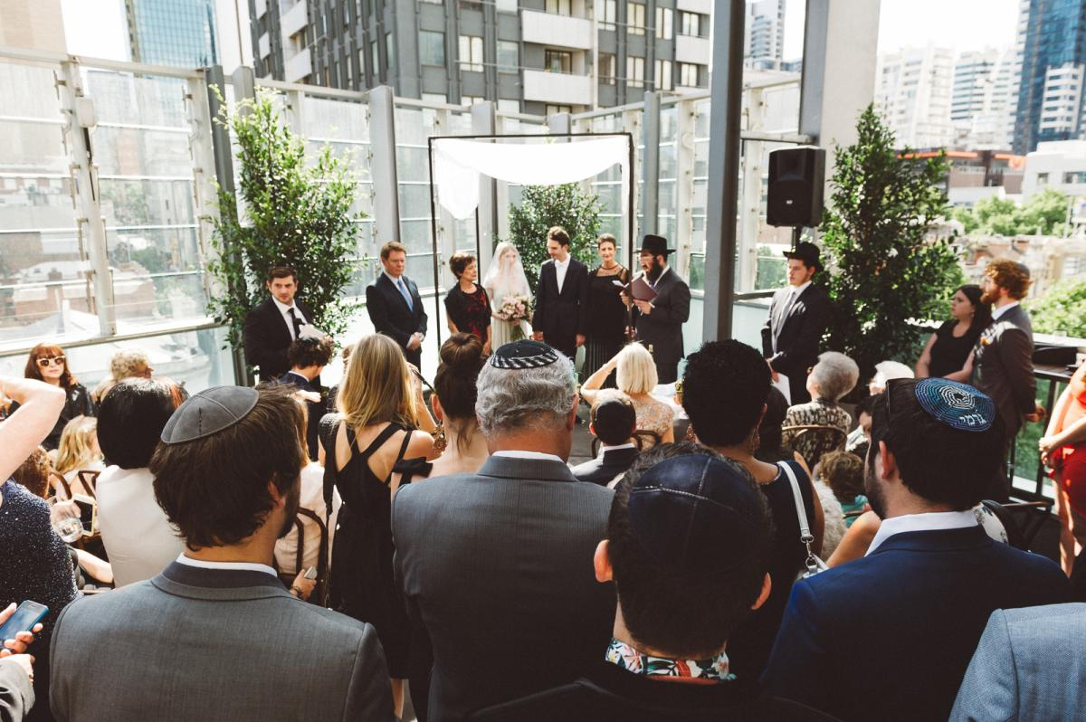Wedding Ceremony on the outdoor terrace at ALTO Event Space in the Melbourne CBD
