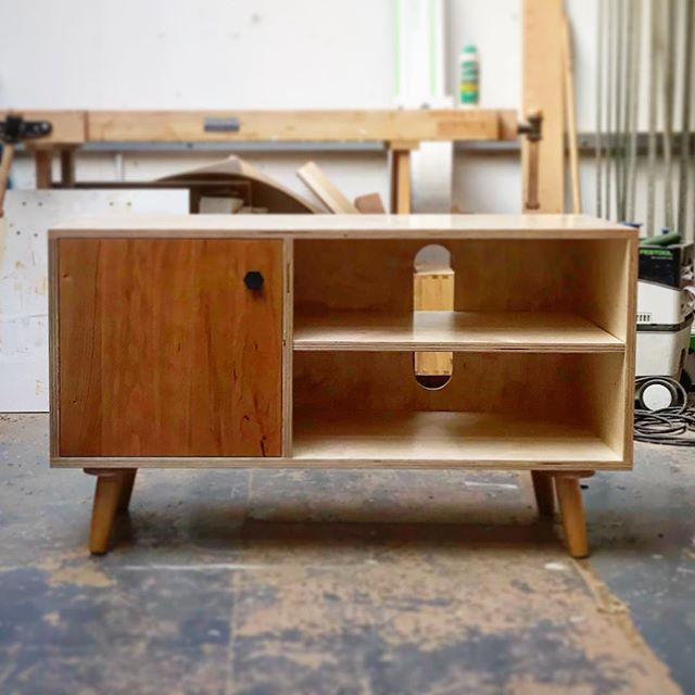 Birch by OOTW.  Small Media in Cherry.  Check out our webshop.  #ootw #birchplywood #birchbyootw #madeinbristol #vinyl #tvcabinet