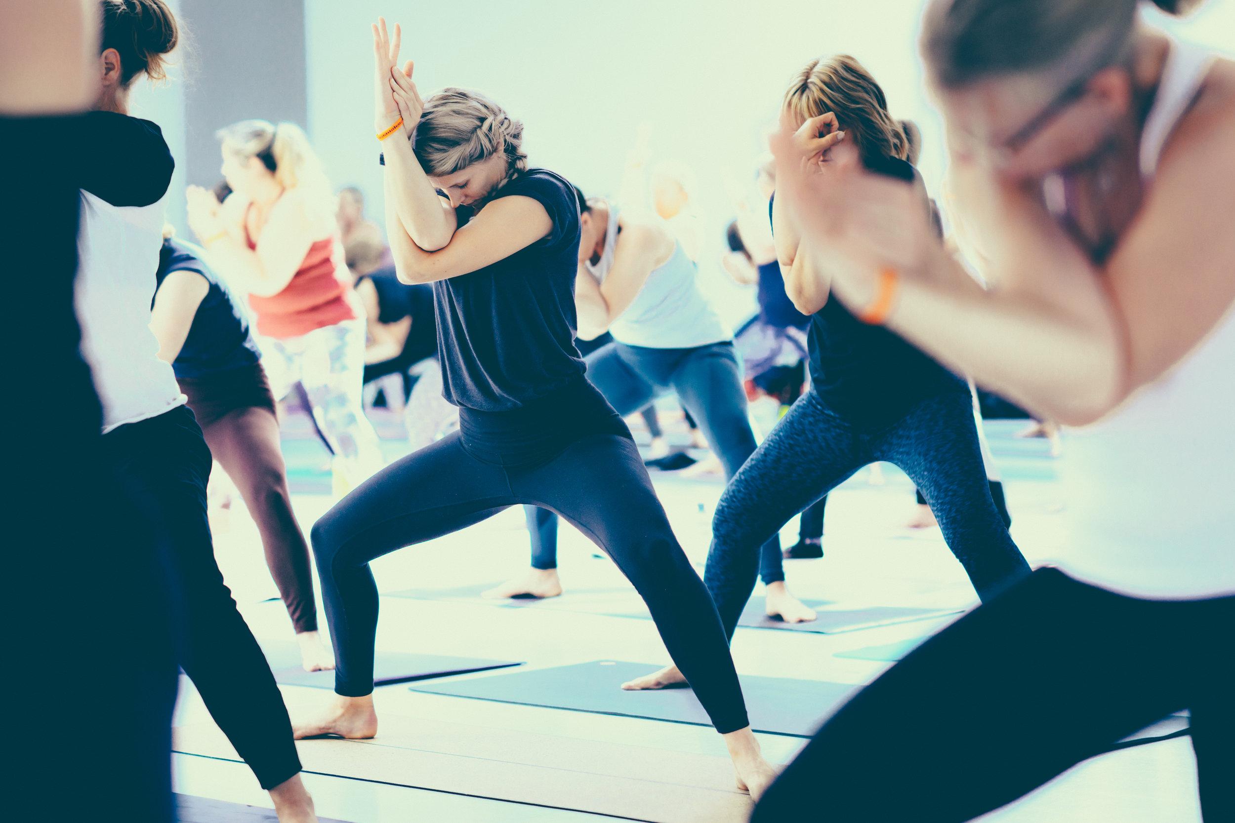 Landa med sig själv i yoga…