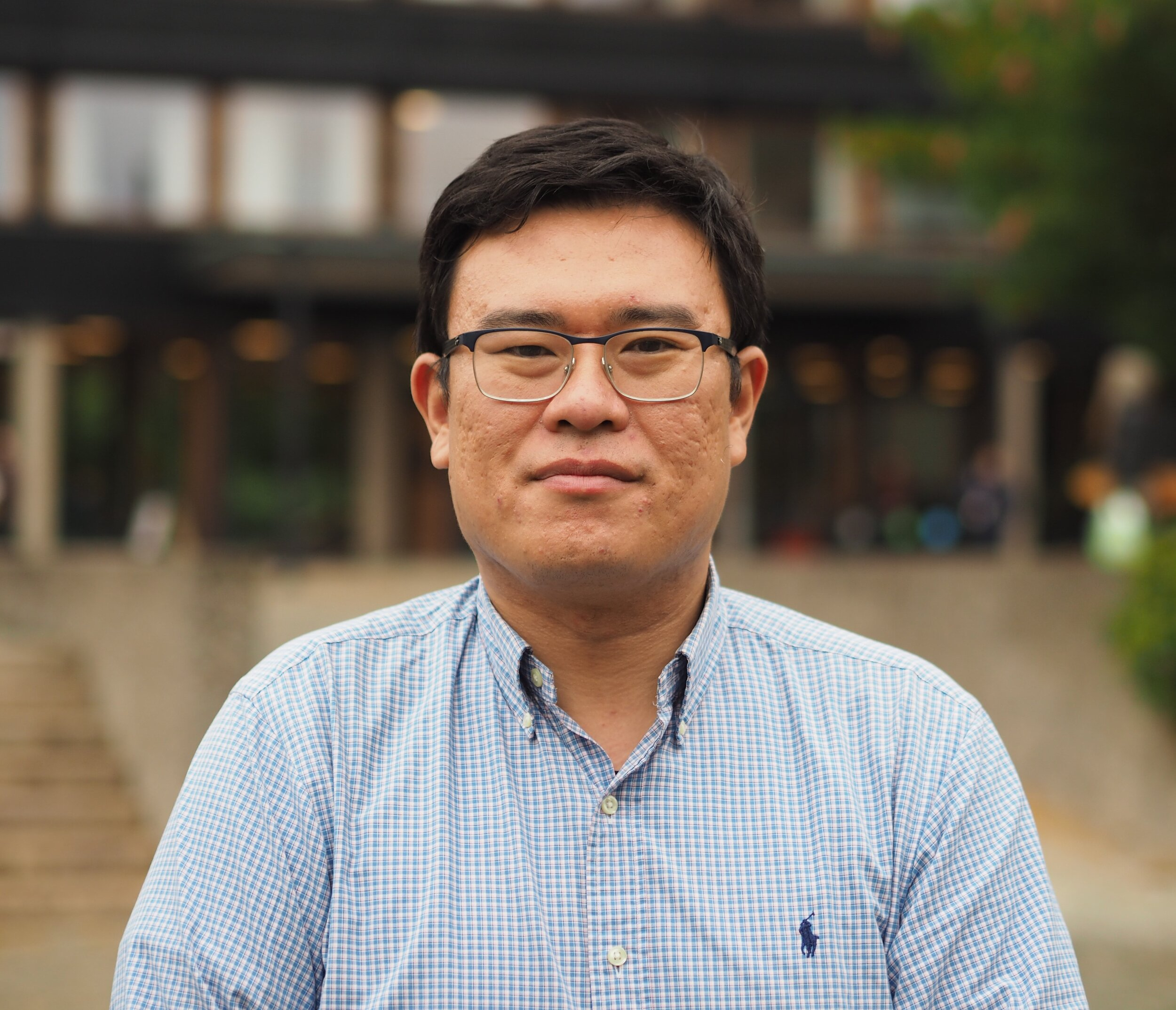 Zhang Yichi in front of the    Department of Culture Studies and Oriental Languages   , University of Oslo.