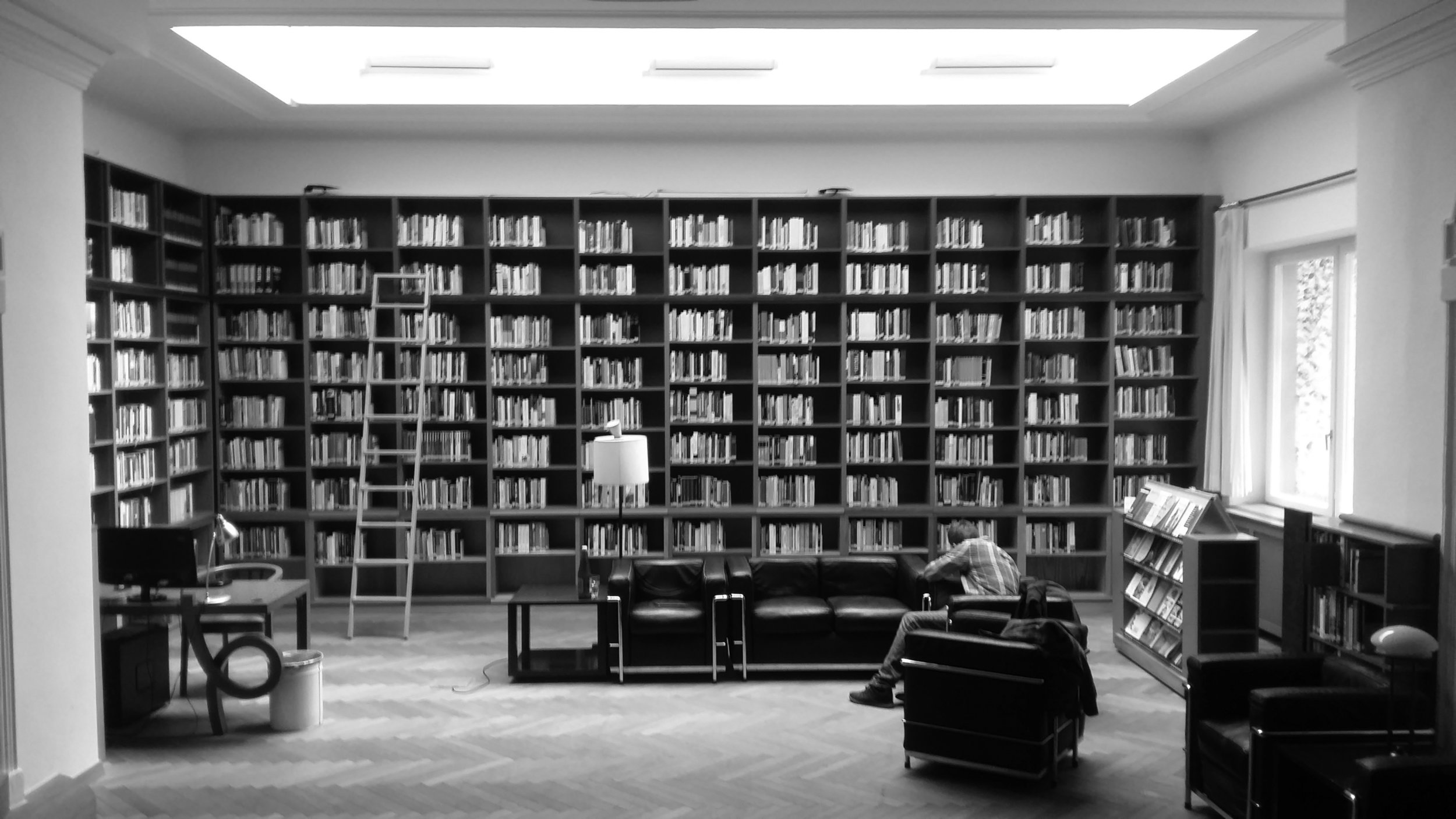 The library of  The Institute for Human Sciences in Vienna, where the interview took place. Photograph: Michal Micovčin (c).
