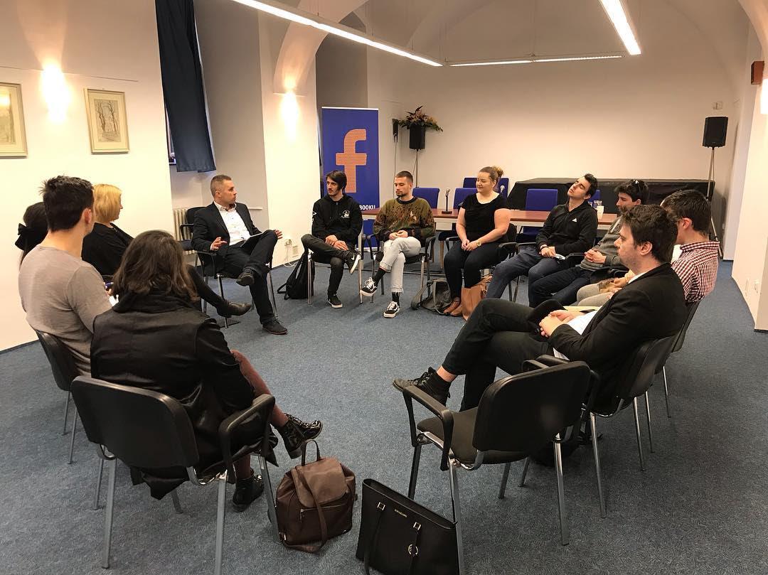 NATO talks with BISLA students.