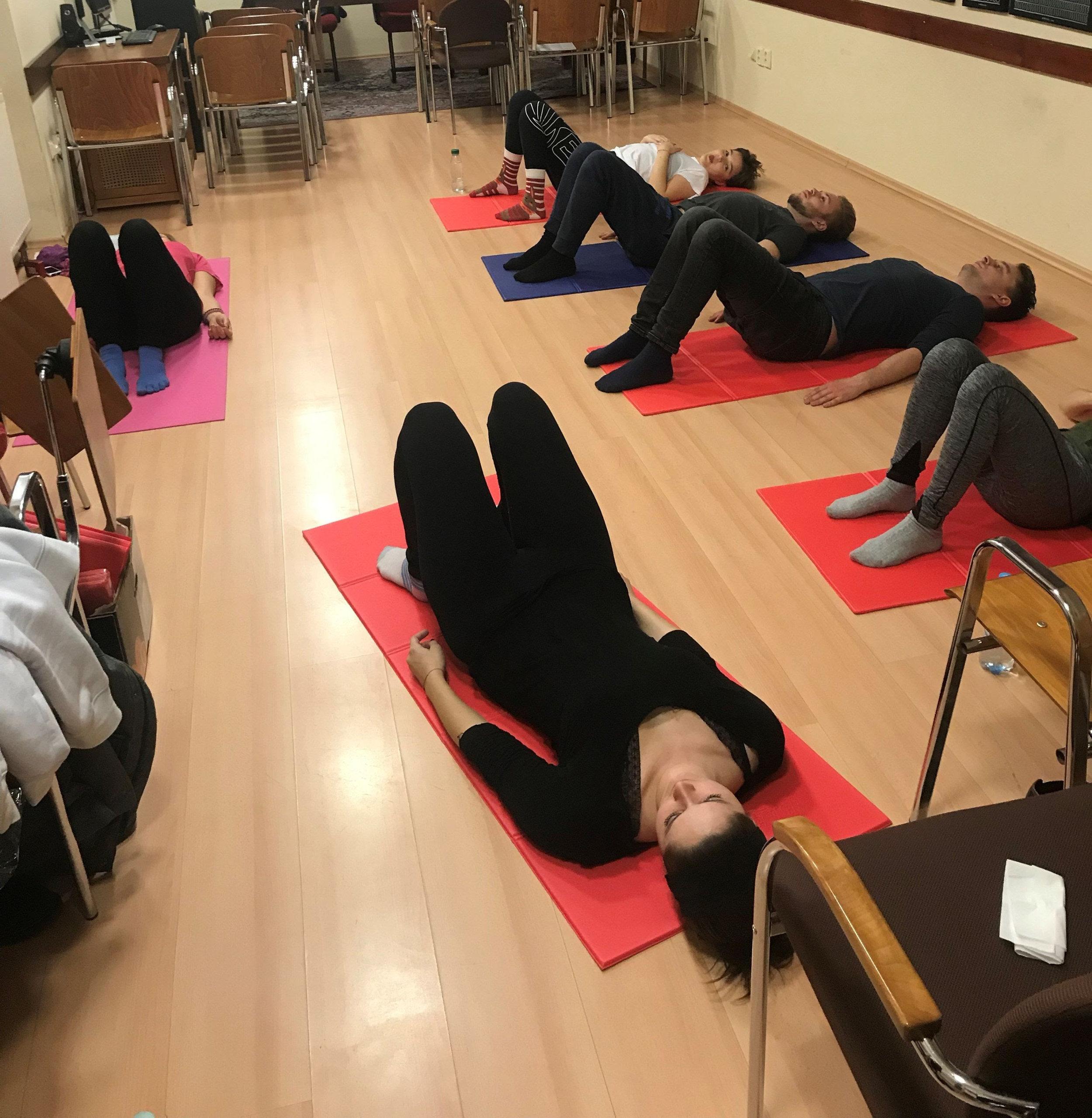 Yoga classes for BISLA students.