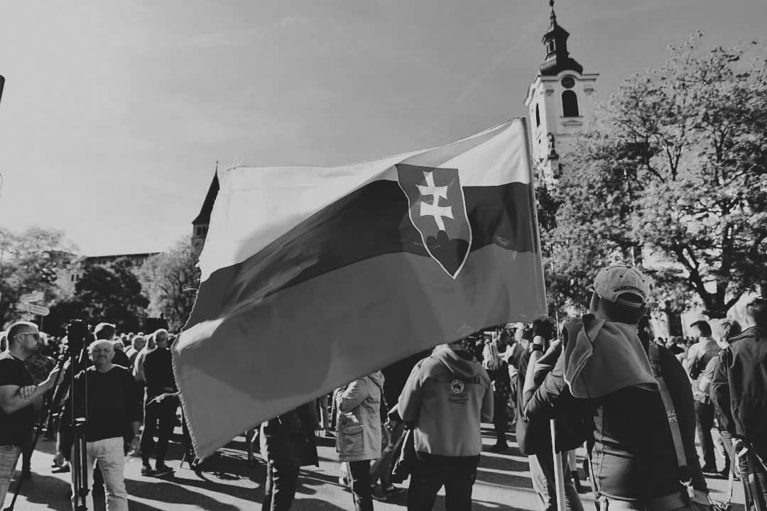 2018 protests in Slovakia. Photo credit: Ondrej Kočšík.