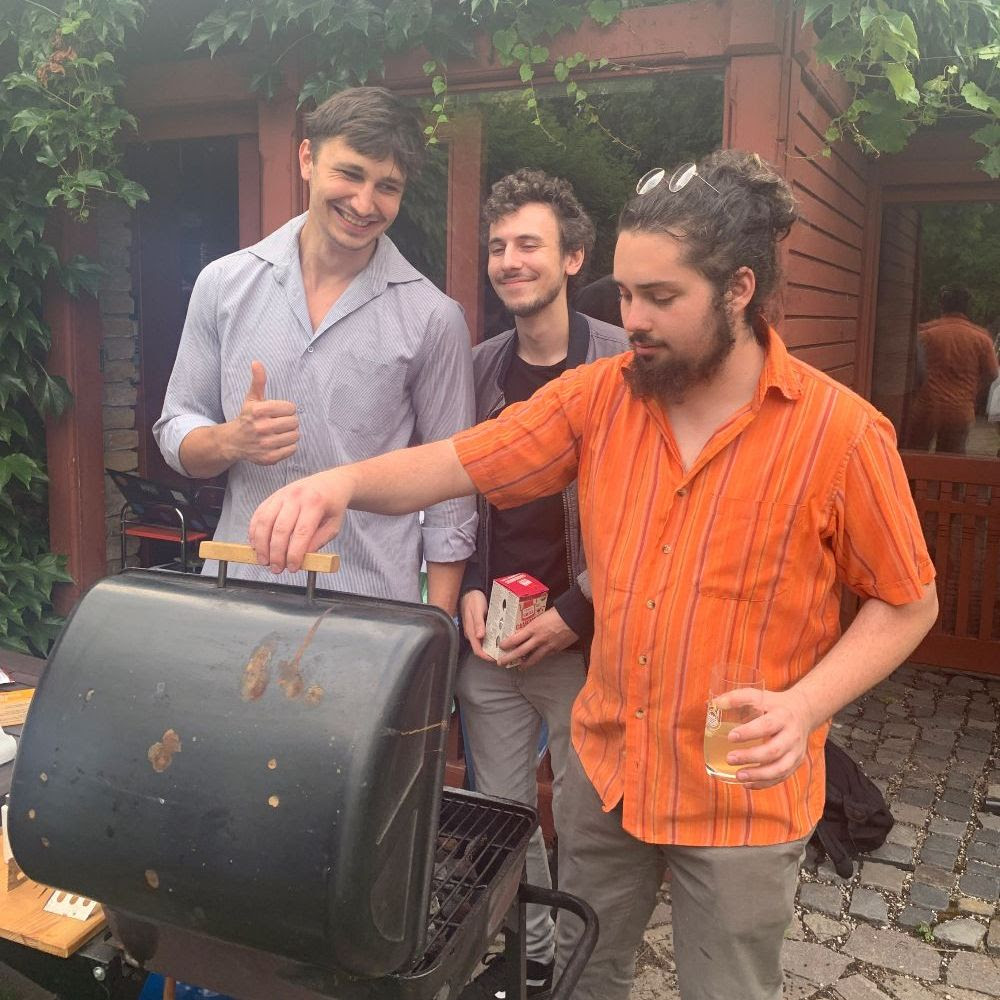 BISLA students Michal, Arnold, Matej, prepare some delicous food during our Garden Party.
