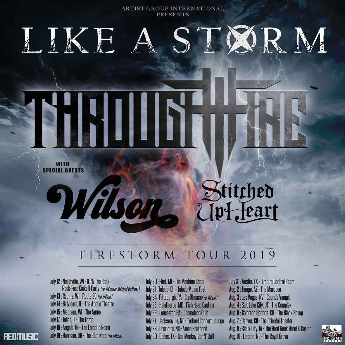 LIKE A STORM and THROUGH FIRE announce co-headline