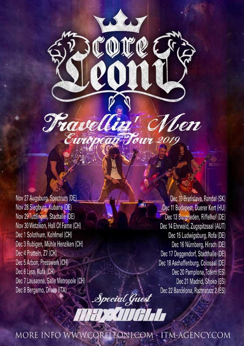 MAXXWELL to tour with CORELEONI and NITROGODS this Autumn