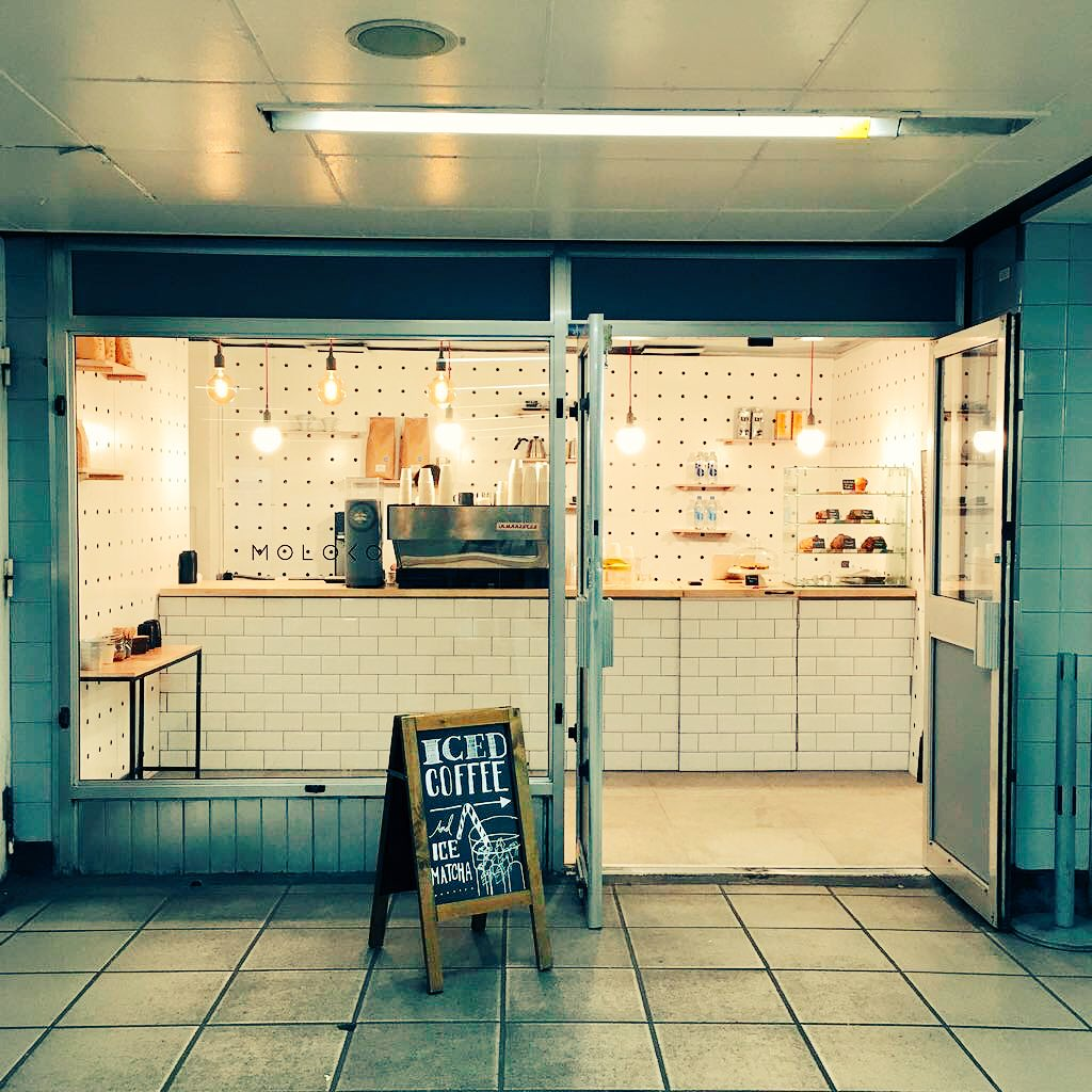 Photo of completed store courtesy of Moloko Coffee