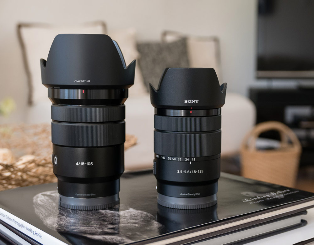 Sony 18-135 f3.5-f5.6 OSS E Mount Lens Review vs Sony 18-105 f4 G