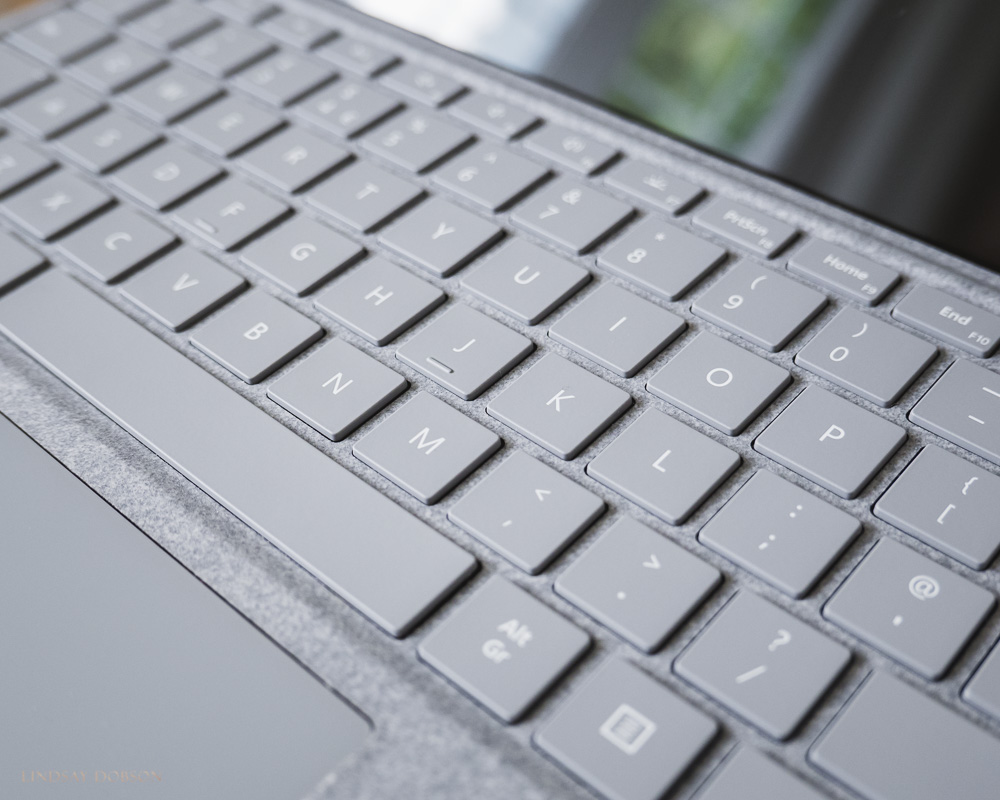 A good keyboard is vital. The Surface Pro's detachable keyboard is surprisingly nice to type on