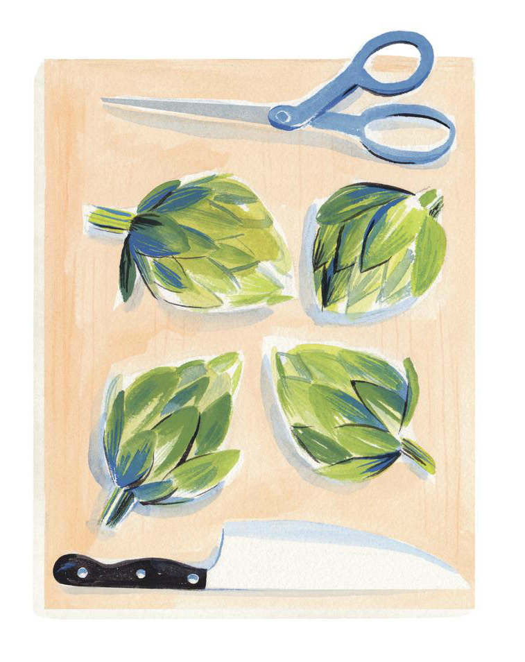 """How to Trim and Cook an Artichoke: An Illustrated Step-by-Step Guide"" The Wall Street Journal"