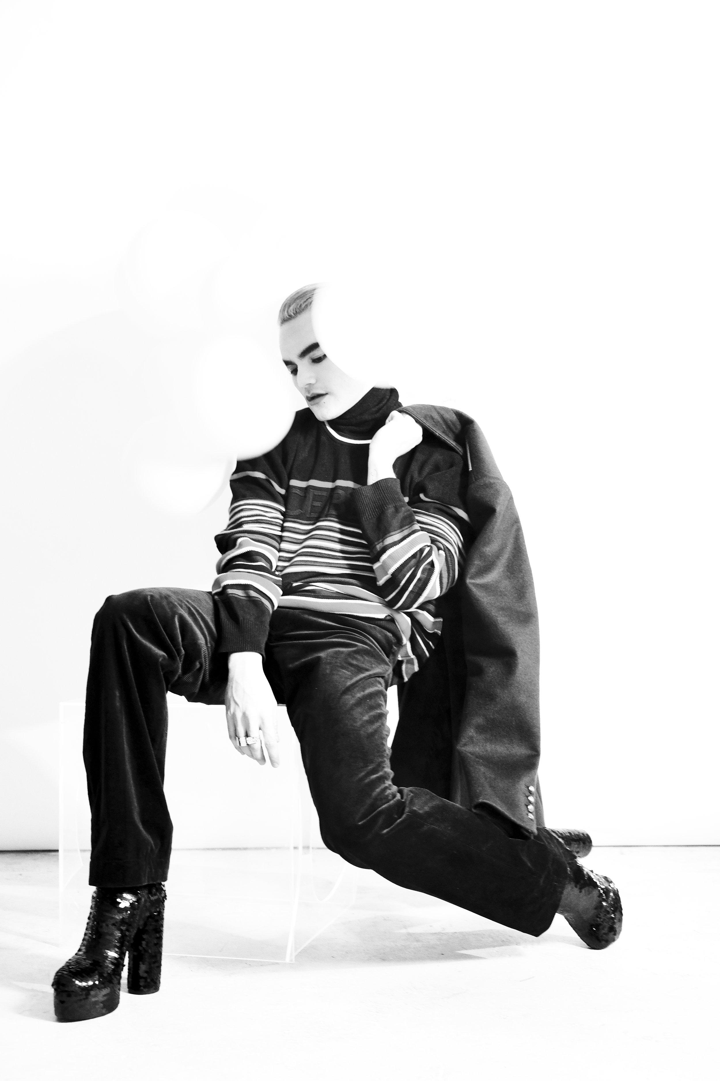 Coat: XB OFCL  Pants/ Belt: Bande Noir