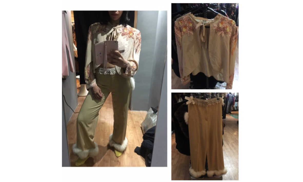Goldsmith Vintage   Top: £125 Trousers: £189
