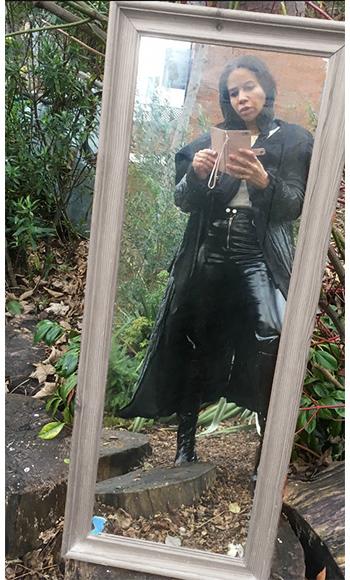 Long black Puffa Jacket from  Fara Charity Shop