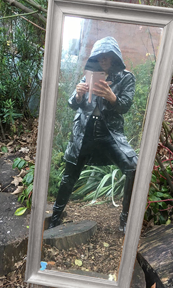 PVC Raincoat from  Cancer Research charity shop
