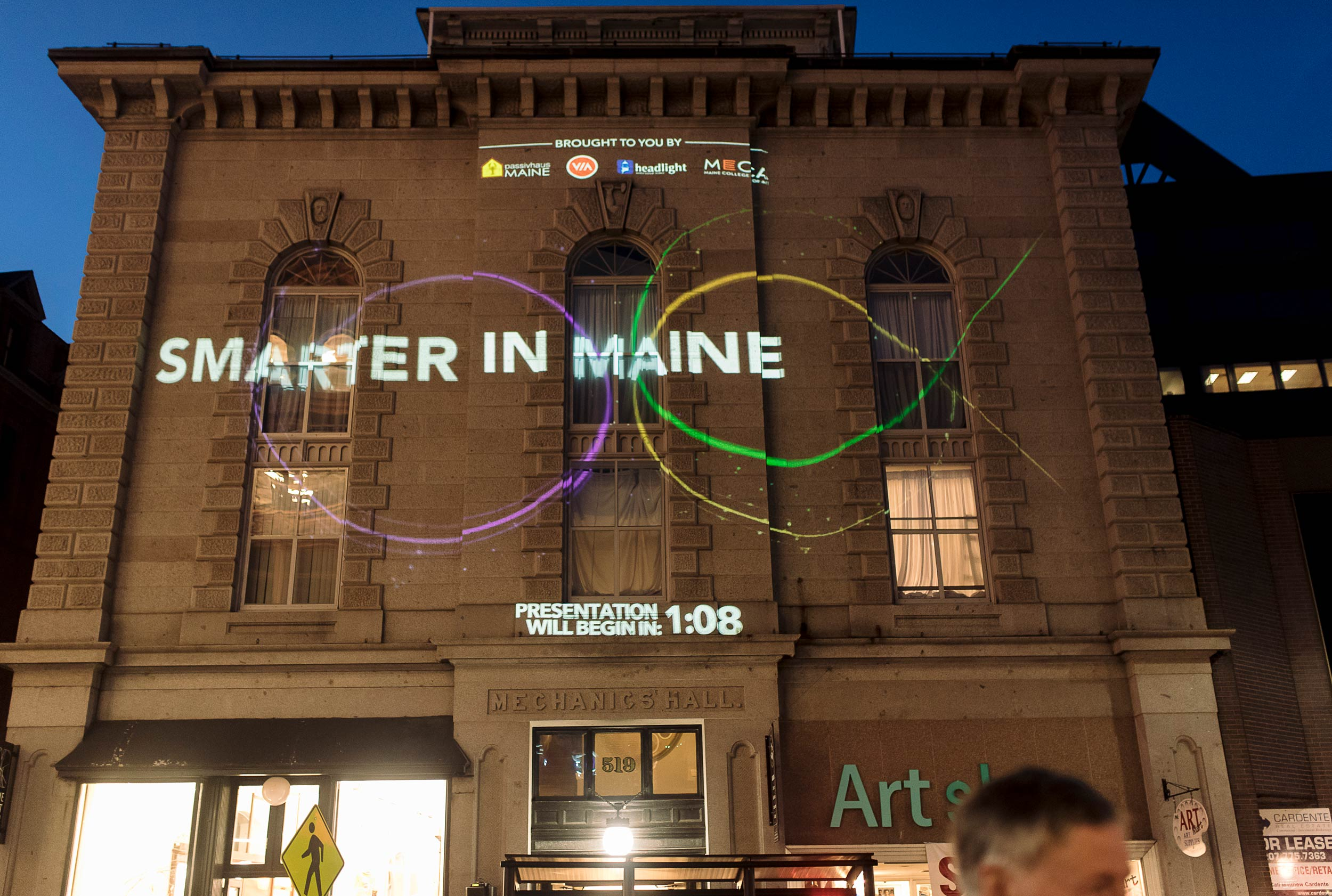On the mild October evening during Portland's First Friday Art Walk, the display captured the attention of the many passersby on Congress Street.