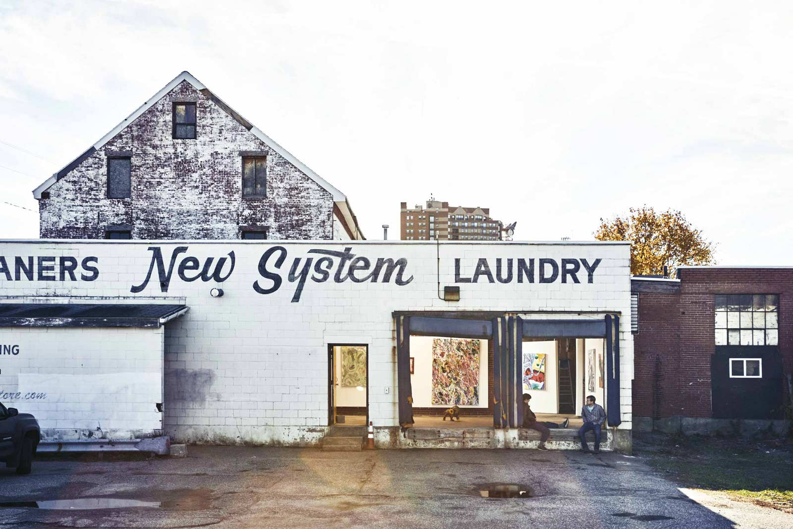 New System Laundry in Portland's transitioning Bayside neighborhood has been pressed into service as art studios and a gallery.