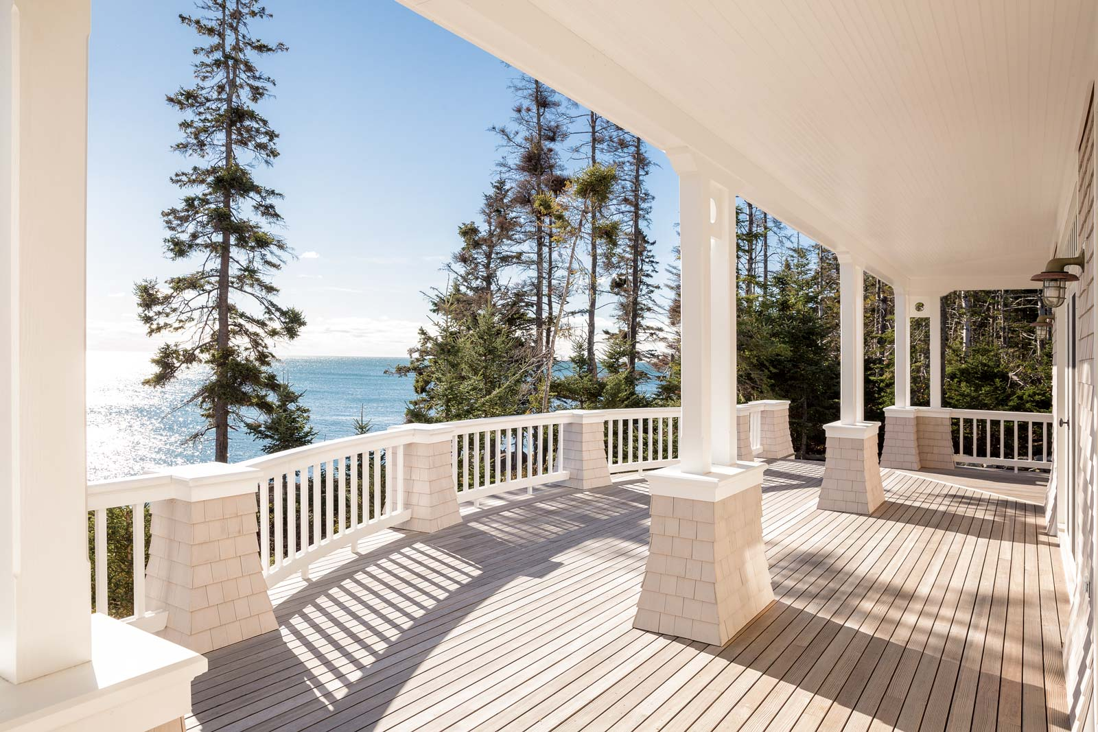Seclusion, stillness, a water view library, a policy against computers in the main house, and a deck (with grill) that spans the entire backside of the home—after long and respected careers, doctors Dianne Rekow and Van Thompson have created a retirement utopia.