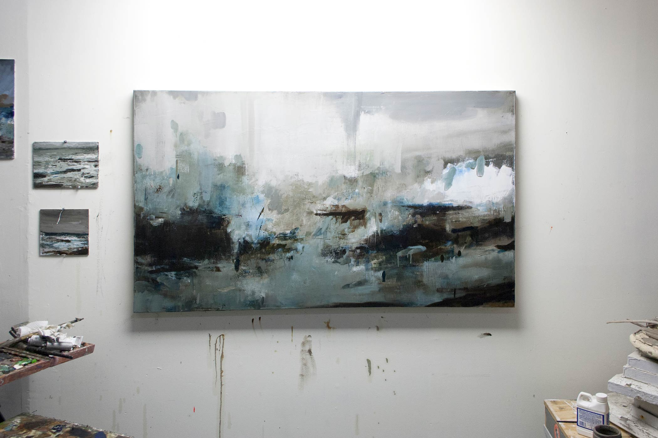 "Storm II , 2014, oil on canvas, 36"" x 60"""