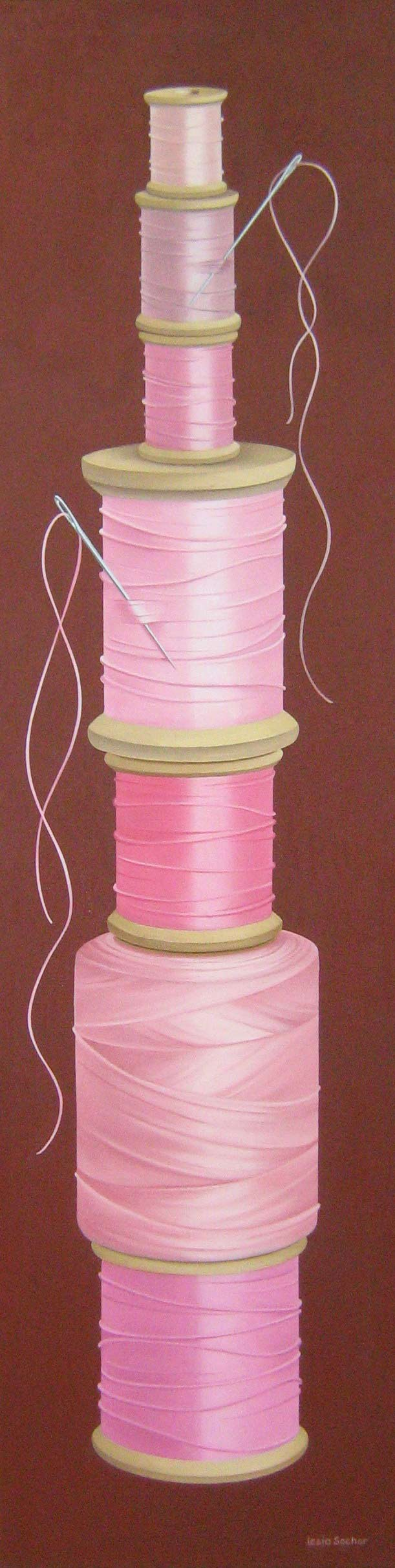 "Code Pink,  2011, oil on canvas, 16"" x 60"""