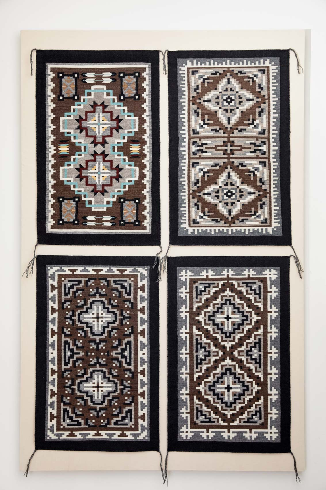 "A set of tapestries commissioned by Werber and Goldman from Barbara Teller, a fifth-generation Navajo weaver, her sister Lynda, and Lynda's son Michael. ""They are important to us as friends and family,"" says Werber, ""and they are great teachers of the art."""