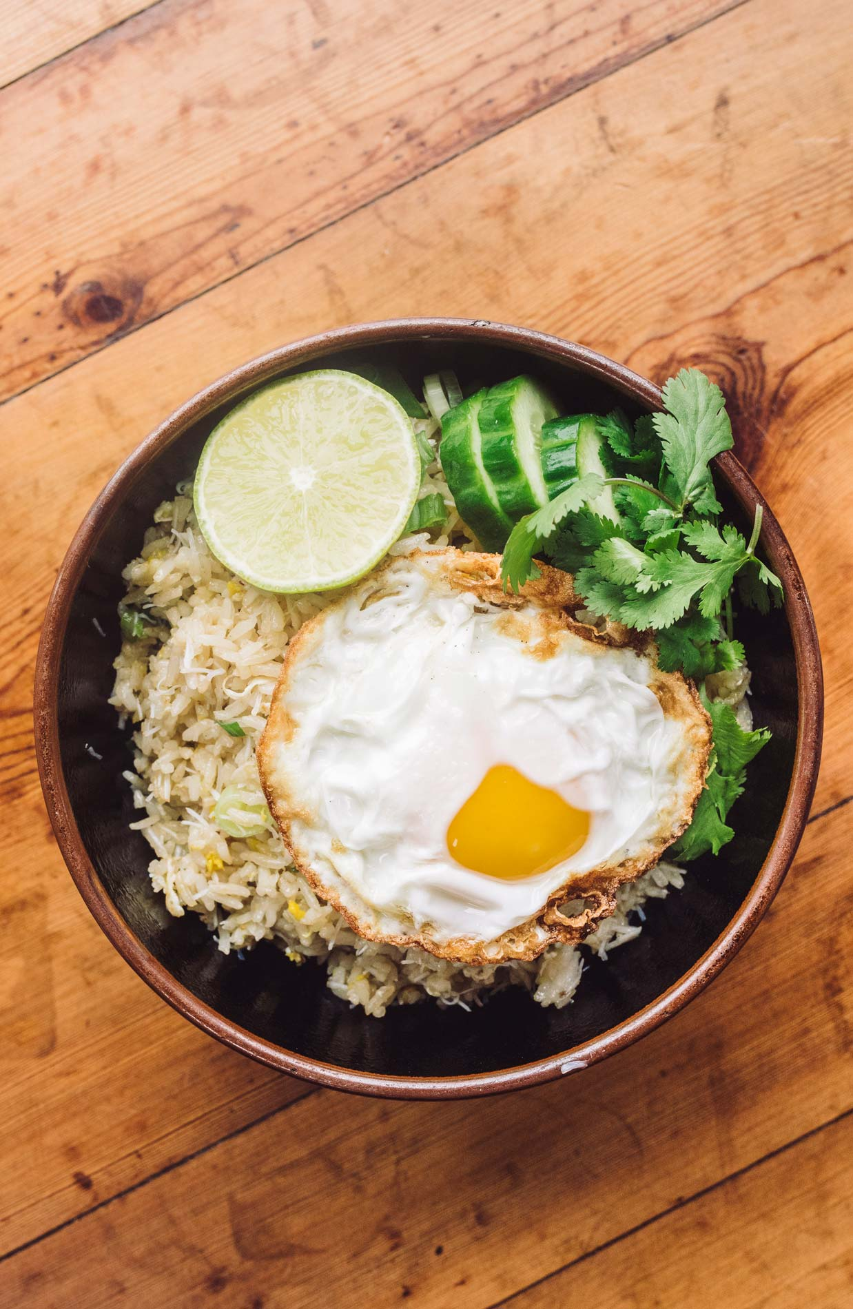 Fried Rice + Fried Egg = Perfect