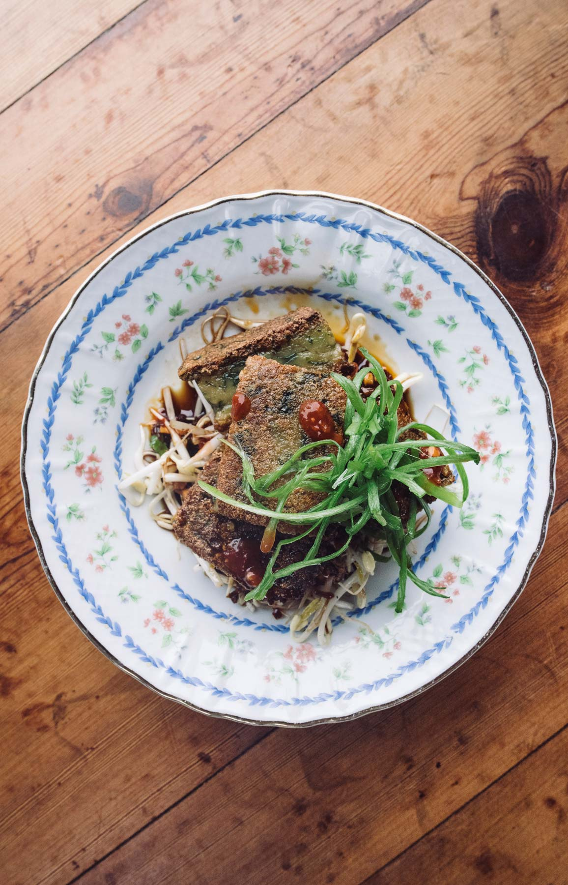 Pan-Fried Garlic Chive Rice Cakes