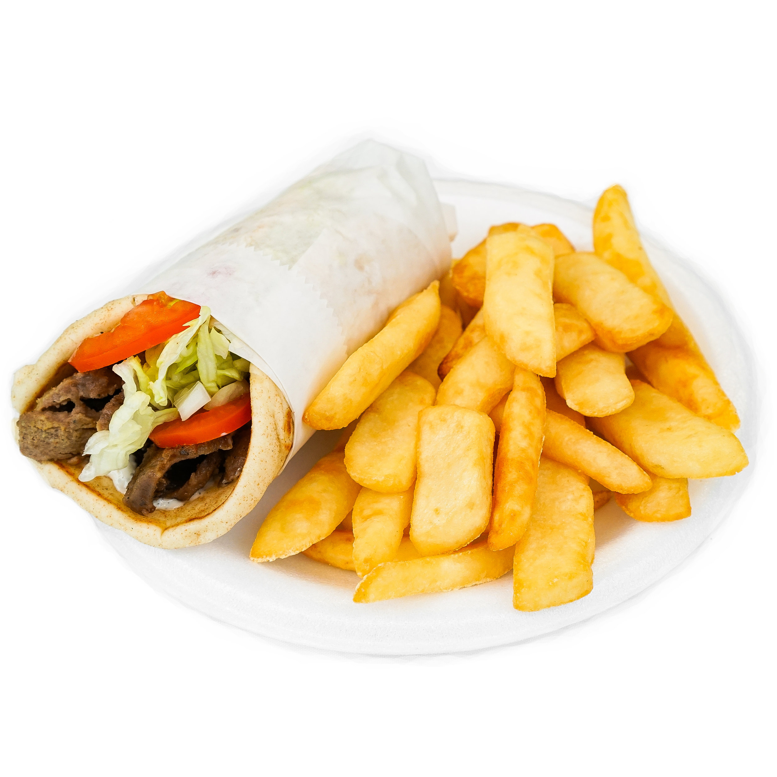 Gyro Wrap w/ Fries