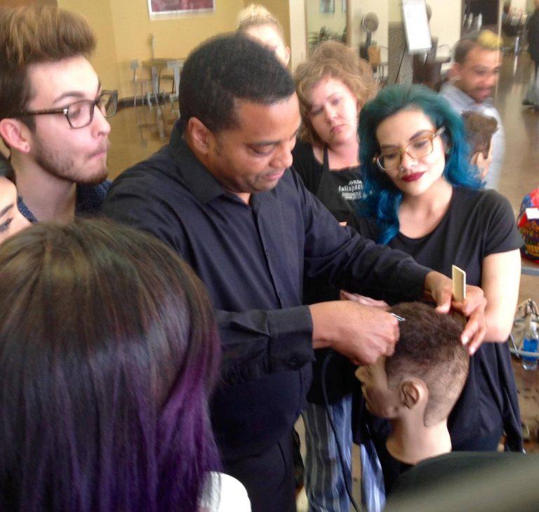 Steve Royster—Cutting, Scott J    Master Stylist, Scott J. Salons in New York City Purefessional, cutting. Photo courtesy of Manesha Johnson