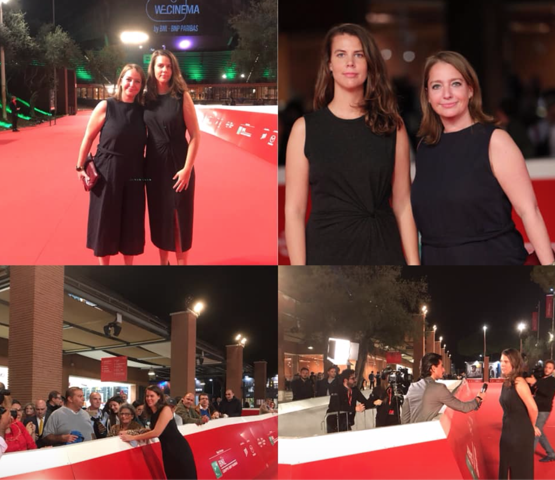 Director Rosanne Pel and Producer Floor Onrust in Rome for 'Light As Feathers' European Premièr -