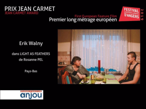 Erik Walny wins Best Actor at Premiers Plans! - We are very proud to announce Erik Walny wins the prize for best actor at Premiers Plans for Light as Feathers!