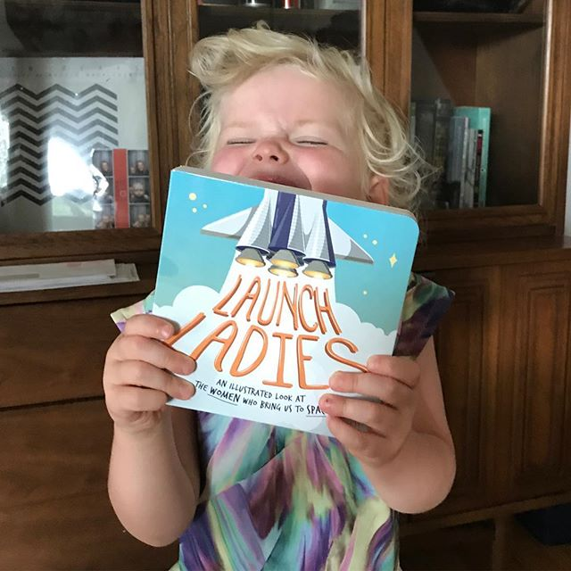 Somebody just can't wait to read the first copy of #LaunchLadies