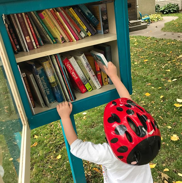 Dropping more #launchladies in the Little Free Libraries of our city!