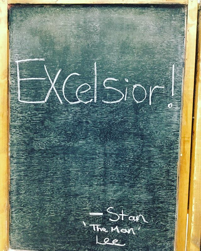 A dedication to a legend of the entertainment business! RIP Stan the man. #excelsior  #portsmouth #southsea #socent #aboard #qotd #barista #baristas #baristalife #canvas #coffee #canvascoffee #specialitycoffee